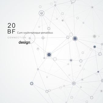 Preto moderno conectar linhas abstratas sobre fundo branco para rede de conceito e tecnologia