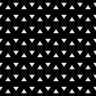 Preto padrão geométrico com triângulos brancos