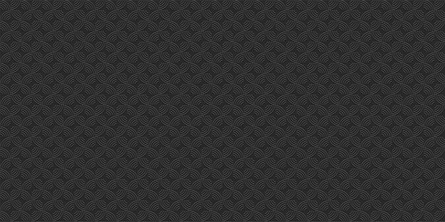 Preto padrão geométrico listrado sem emenda, estilo 3d. papel de parede geométrico abstrato, fundo do vetor