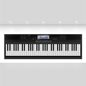 Preto teclado do sintetizador