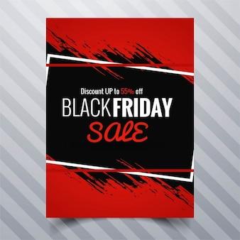 Preto venda brochura sexta-feira