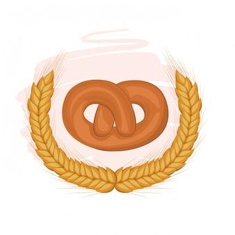 Pretzel de pão fresco e delicioso