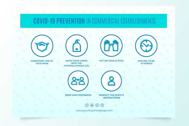 Prevenção covid-19 em estabelecimentos comerciais