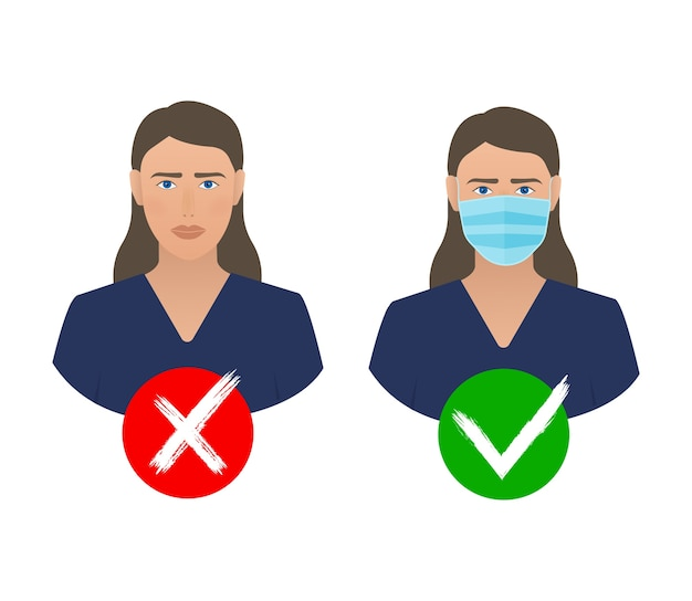 Prevenção da pandemia de coronavírus. ícone de máscara médica. proteção contra o coronavírus .