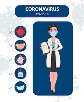 Prevenção de coronavírus, 2019-ncov, covid-19.