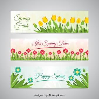 Primavera banners set