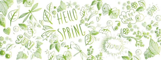 Primavera doodles banner