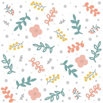 Primavera ou verão floral padrão ou plano de fundo