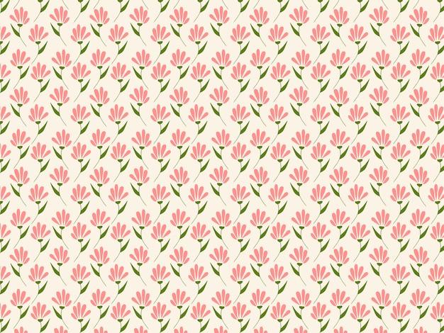 Primavera rosa vintage floral sem costura padrão para cortinas