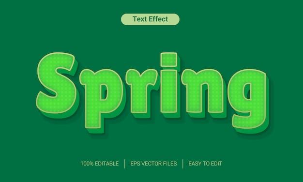 Primavera verde natureza texto estilo efeito maquete Vetor Premium
