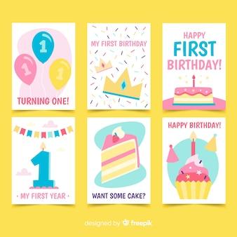 Primeira coleção de cartões de aniversário
