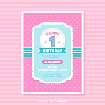 Primeiro cartão de aniversário