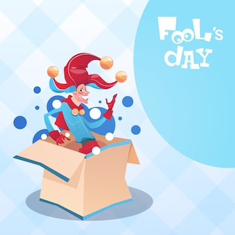 Primeiro cartão feliz do feriado do dia do enganado