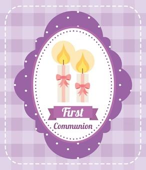 Primeiro design de cartão de comunhão