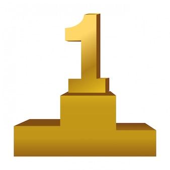 Primeiro lugar prêmio símbolo