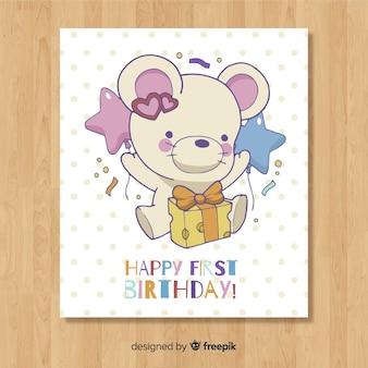 Primeiro modelo de cartão de aniversário