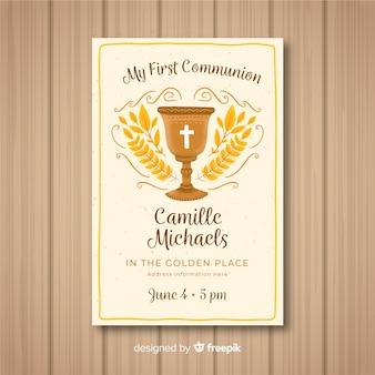 Primeiro modelo de convite de comunhão