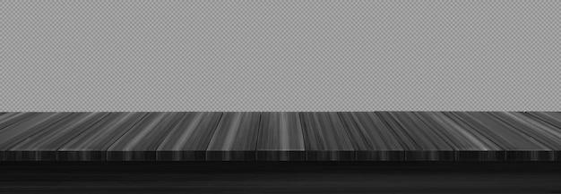 Primeiro plano da mesa de madeira em cinza