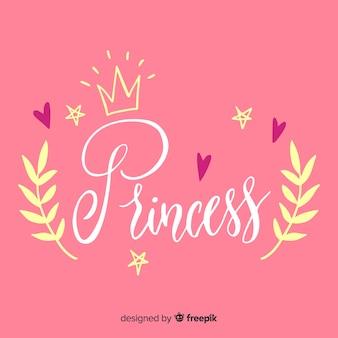 Princesa caligráfica fundo
