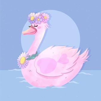 Princesa cisne estilo elegante