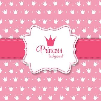 Princesa coroa na ilustração vetorial de fundo. eps10