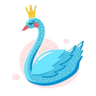 Princesa de cisne ilustrada