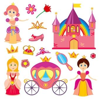 Princesa de conto de fadas bonito