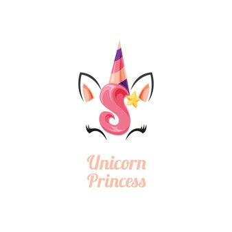 Princesa de unicórnio de beleza