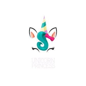 Princesa de unicórnio gentil
