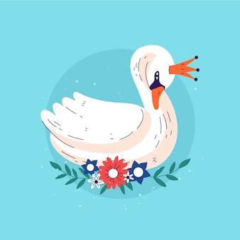 Princesa elegante cisne