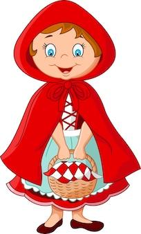 Princesa fada dos desenhos animados com manto