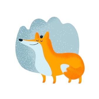 Princesa fada raposa na floresta