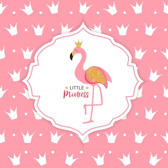 Princesa flamingo coroa