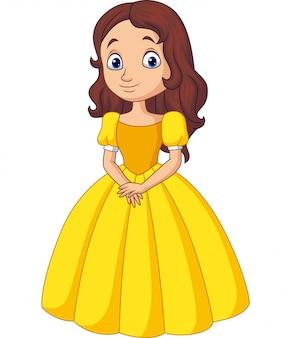 Princesa pequena bonito isolada
