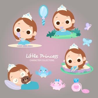 Princesa pequena marrom
