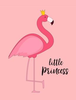 Princesa rosa flamingo