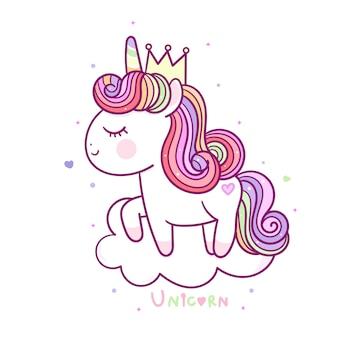 Princesa unicórnio fofo
