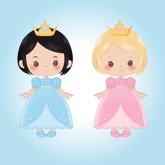 Princesas criança pequena