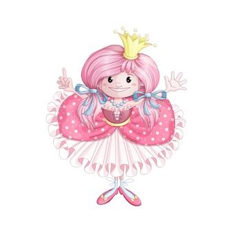 Princesinha em um vestido rosa