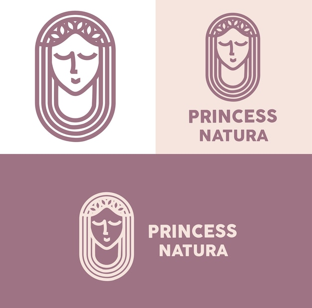 Princess natura logo minimal monoline