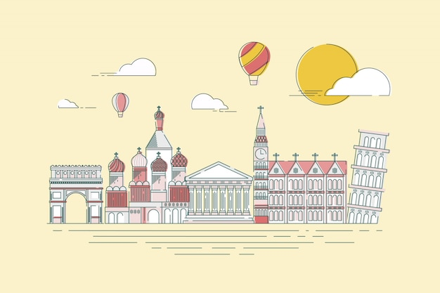 Principais marcos famosos do mundo para viagens
