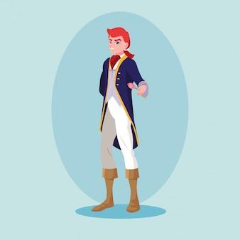 Príncipe de personagem de avatar de conto de fadas