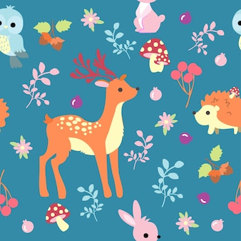 Print animal seamless pattern