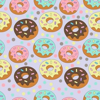 Print donut colorido