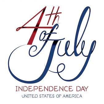 Print4th julho dia da independência vector.