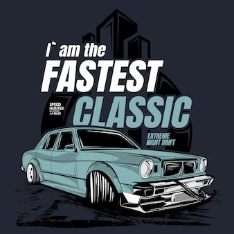 Printi`am o mais rápido clássico, ilustração de um carro clássico