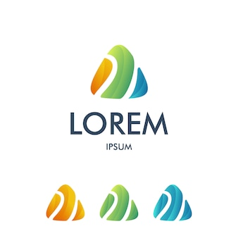 Printletter um logotipo triangular