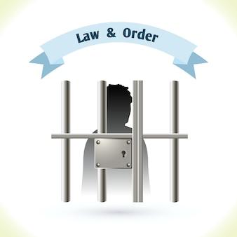 Prisioneiro da lei na cadeia