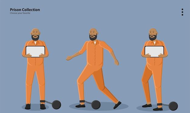 Prisioneiro ladrão crime criminal bandido célula bloqueio de parede mental ilustração de fundo ícone de papel de parede