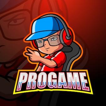 Pro gamer mascot esport
